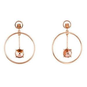 Oscar de la Renta Signed Pink Crystal Earrings